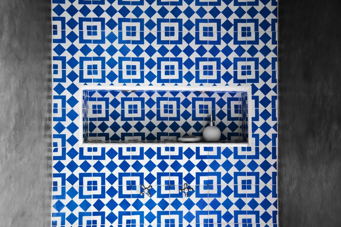 Granada Tile's Fez cement tiles at Meson Nadi Hotel.