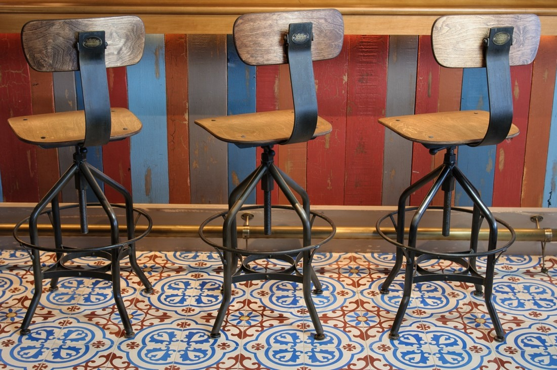 Granada Tile's custom Copenhagen cement tiles at Four Seasons in Arizona.