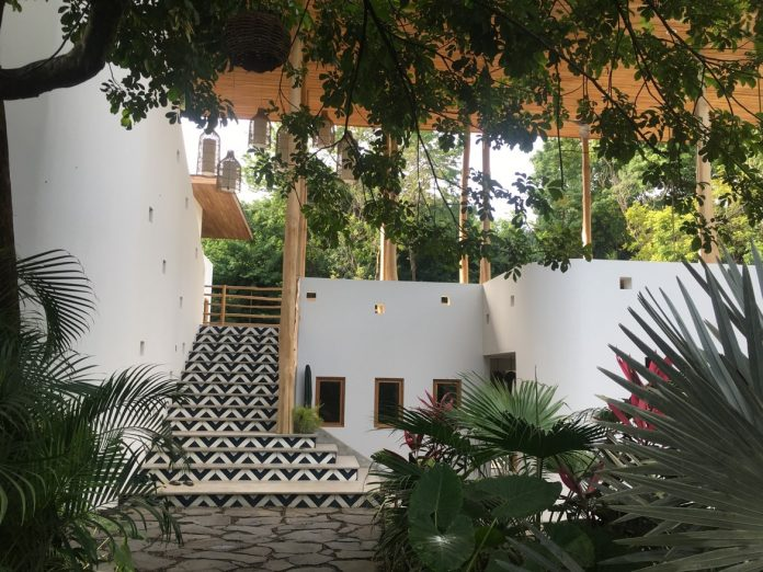 Santander cement tile at resort in Nosara, Costa Rica