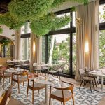 A restaurant designed using cement tiles from Granada Tile