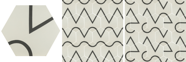 A Little Off Corner - Abbot Kinney cement tiles designed by Taryn Bone