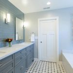 Beautiful bathroom created with Athens cement tiles and designed by Michelle Lisac Design