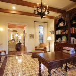 Home office designed by Mirador Builders using St Tropez cement tiles