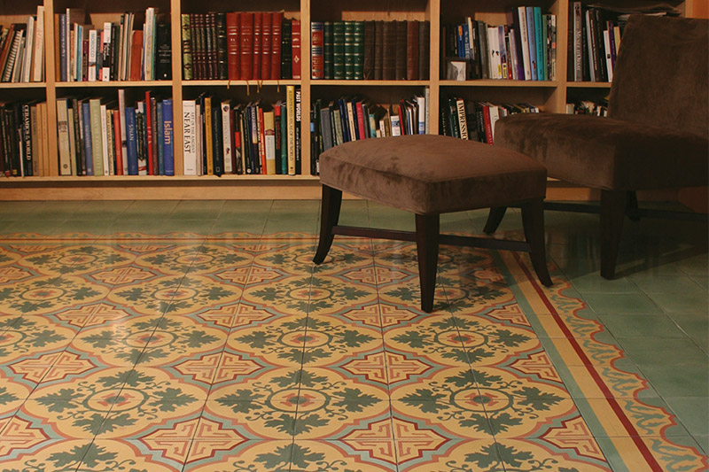 Home office for the Halpern-Ibahim family using the Venezia pattern