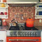 Granada Tile's Cluny pattern used for a kitchen backsplash