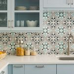 Cluny cement tiles used to make a aesthetically pleasing kitchen
