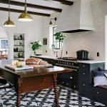 Designer Jessica Helgerson used Badajoz cement tiles for a kitchen