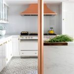 Fawn Galli Interior Design used Normandy cement tiles for a kitchen