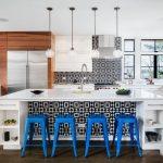 Studio Marchetti used Fez cement tiles for a kitchen