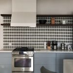 Trellis cement tiles used to make a aesthetically pleasing kitchen