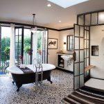 Deirdre Doherty Interior Design uses Granada Tile's Cluny pattern in a bathroom