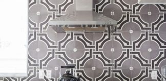 Hatchworks uses Granada Tile's Castelo pattern for Kitchen tiles