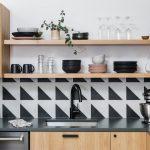 Taryn Bones uses for ALittleOffCenter - Olympic cement tiles Kitchen Backsplash