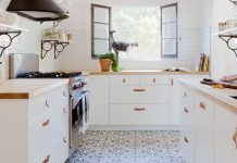 A top kitchen design trend using Cluny cement tiles and designed by Jette Creative