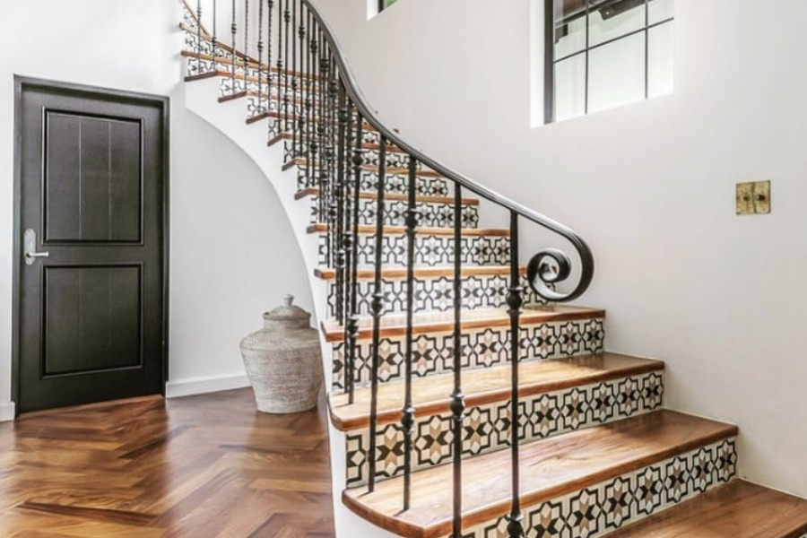 Add a Gorgeous Touch to Your Staircase with Our Cement Tile