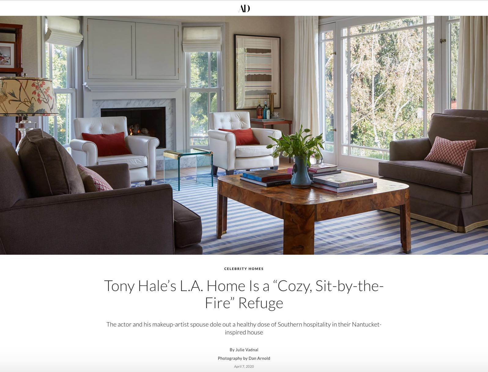 Tony Hale's L.A. Home Is a Cozy, Sit-by-the-Fire Refuge