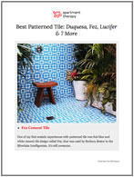 Best Patterned Tile