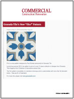 "Granada Tile's New ""Flor"" Pattern"