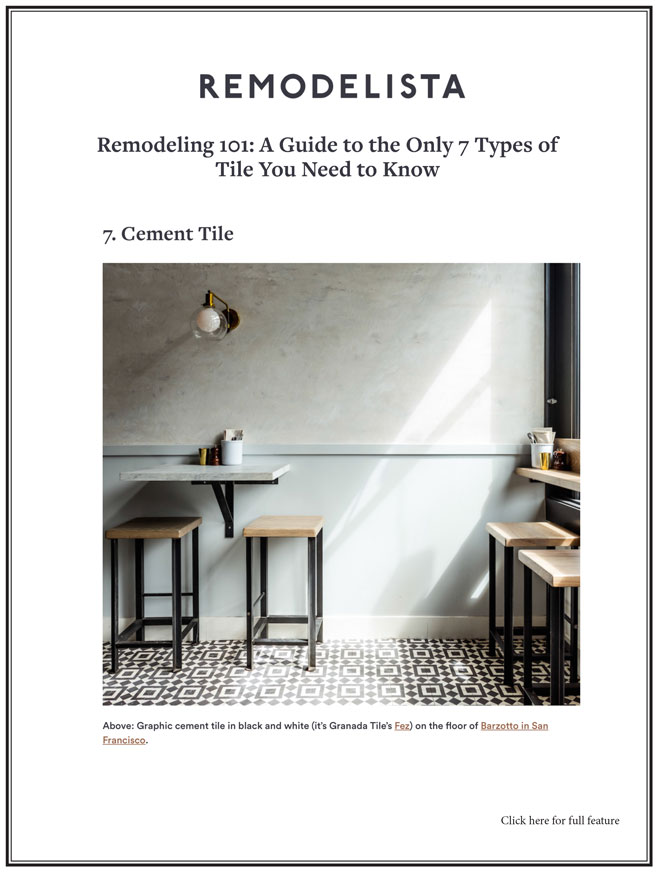 Remodeling 101: A Guide to the Only 7 Types of Tile You Need to Know