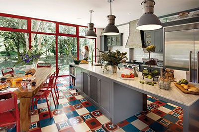 solid colors cement tiles