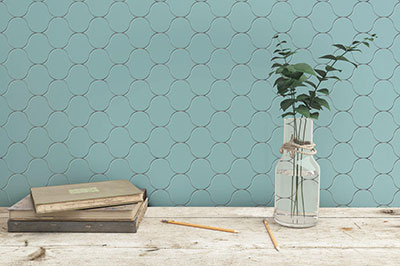cement tiles - rounded