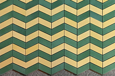 cement tiles - zig zag pattern