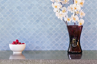cement tiles - fish scale