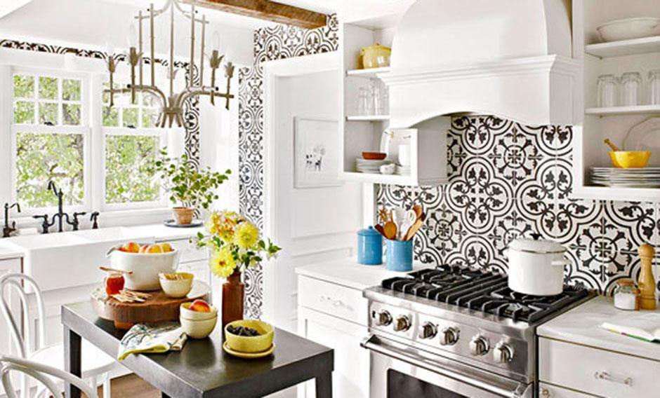 Gray Accent Tiles Kitchen Decorative