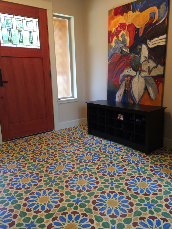 Colorful Alhambra cement tiles - Echo Collection
