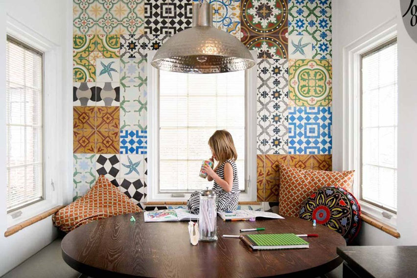 Cement Tile Floor Normandy Kitchen Patterns Encaustic Dining Room