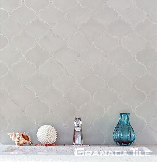 Andalucia Arabesque concrete tile bathroom wall