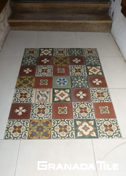 Patchwork Cement Tile Floor in Salvador do Bahia, Brazil