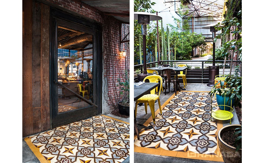 Decorative Cement Tile for Patio Installation