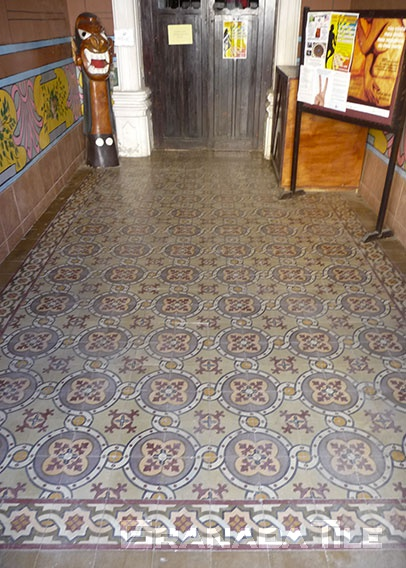 Vibrant Cement Tile in Entryway in Salvador do Bahia
