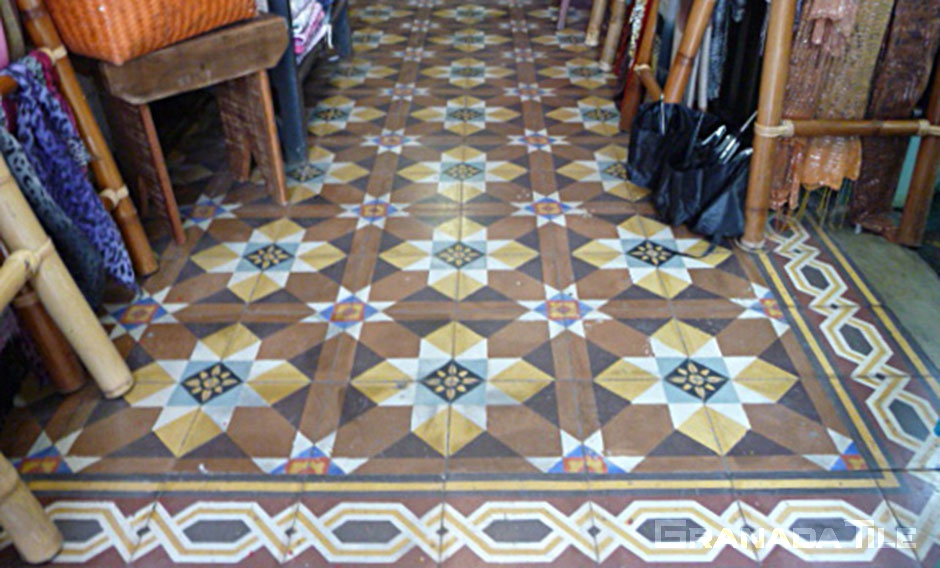 Brazilian Cement Tiles in Shop