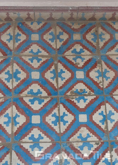 Lively colors for Moroccan concrete tile floor