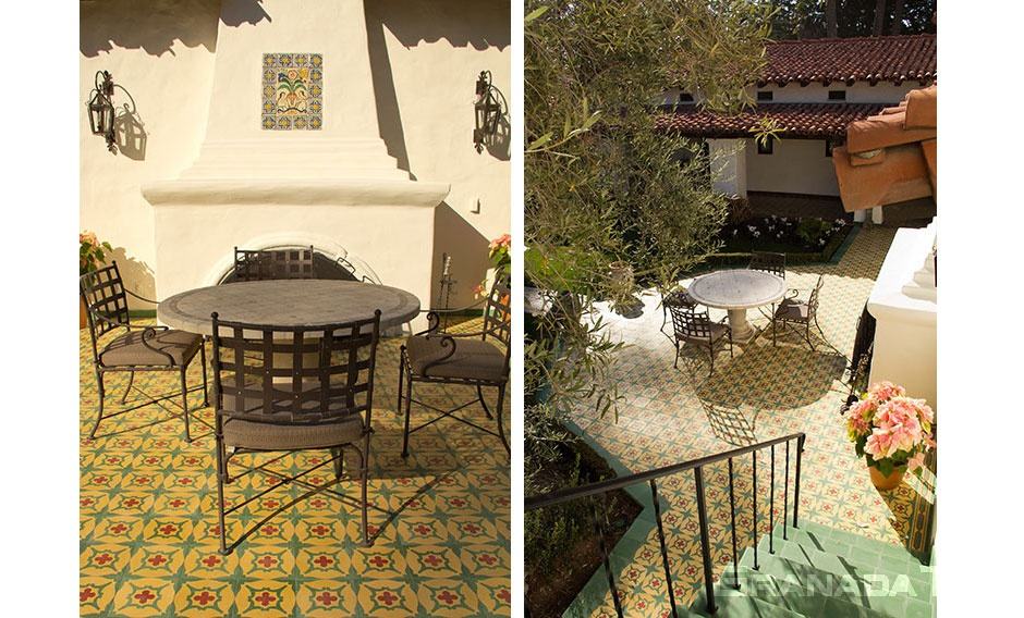 Cement Tile on the Outdoor Patio