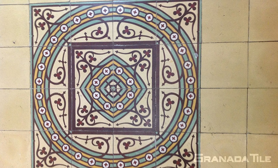 Large Cement tile medallion