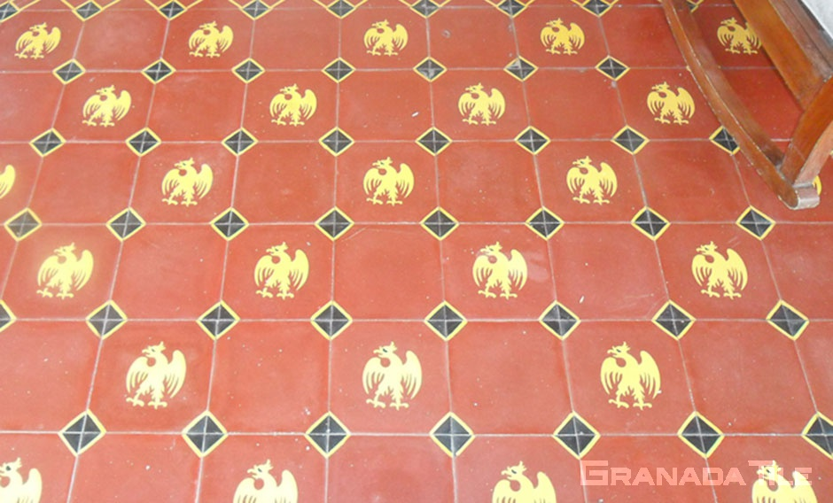 Cement tile floor installation