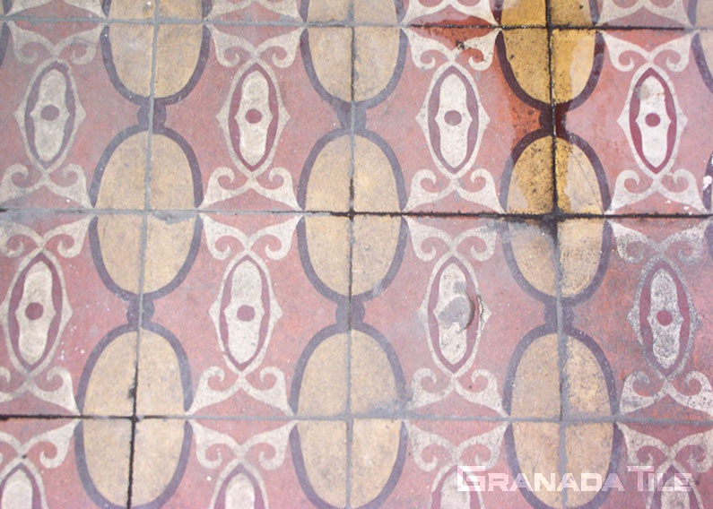 Colorful concrete tile pattern