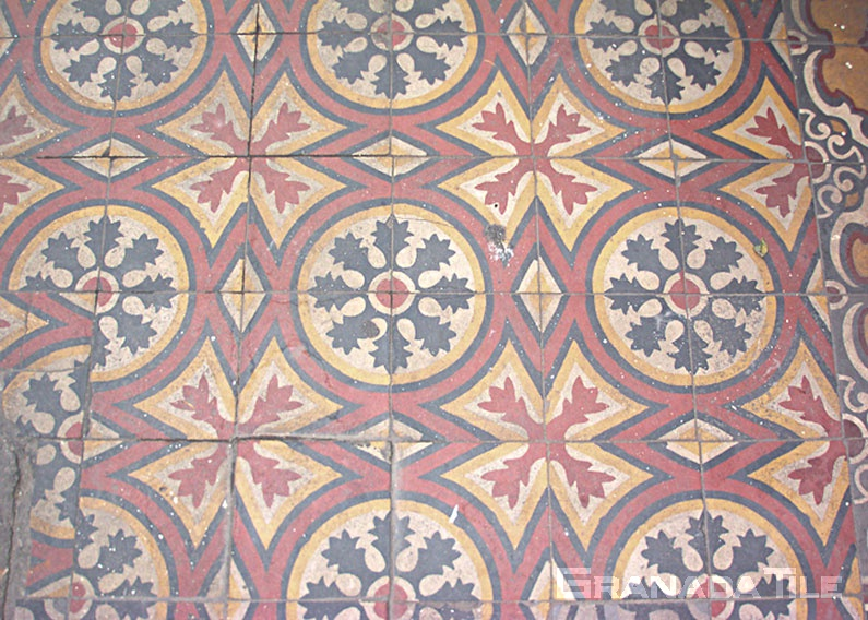 Electrifying Cement Tile pattern in Cairo, Egypt