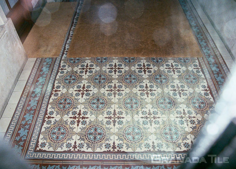 Concrete tile carpet