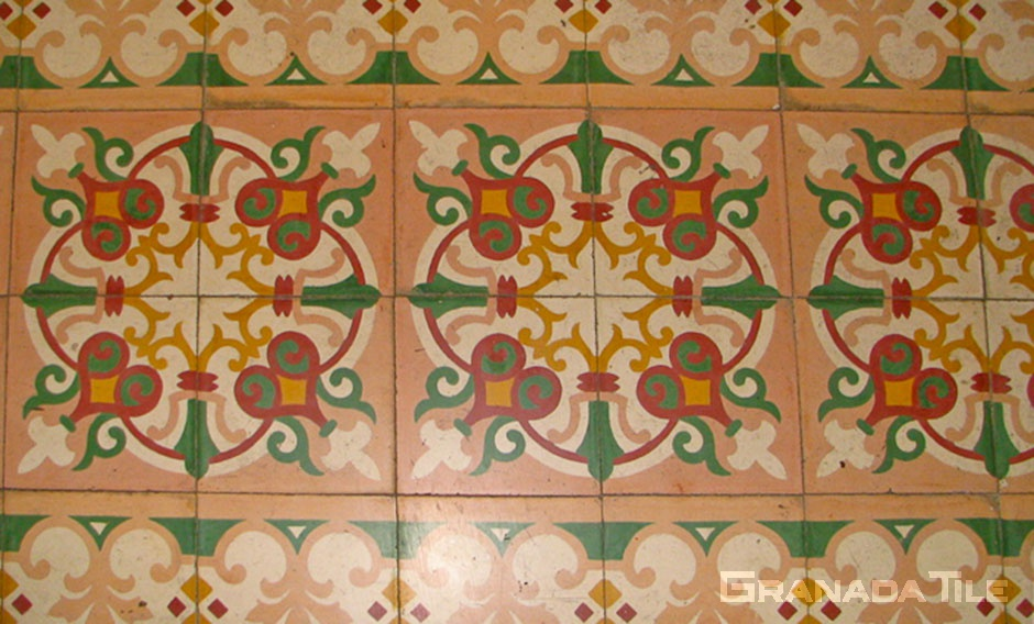 Historic Cement Tile in Marrakesh, Morocco