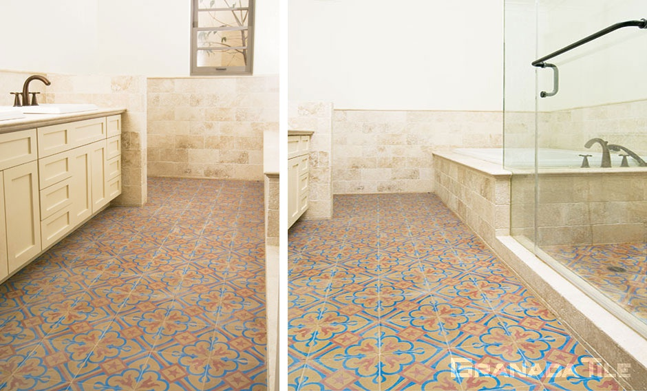 Chantilly Tiles in Bathroom designed by Mission Tile West