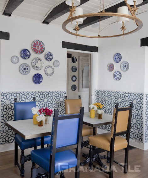 Granada Tile Company's Alhambra cement tiles at Casa Laguna Hotel & Spa