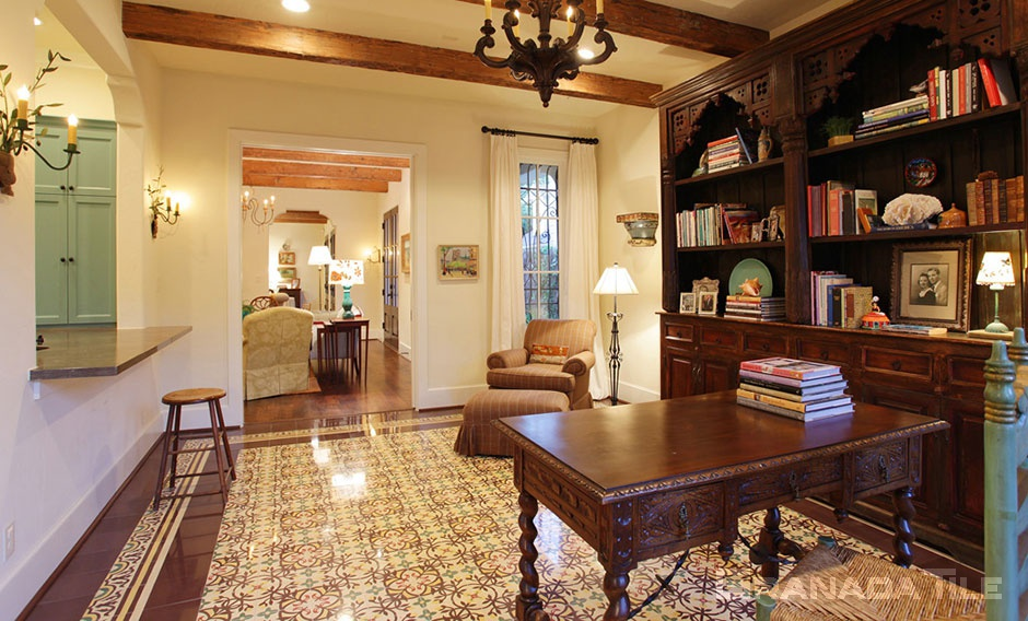 Cement Tile Library Floor