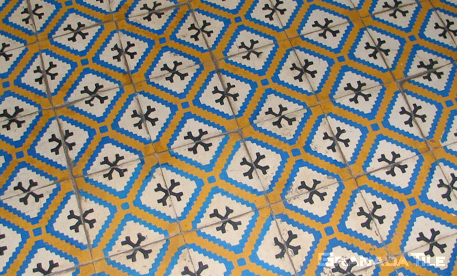 Lively Moroccan cement tile