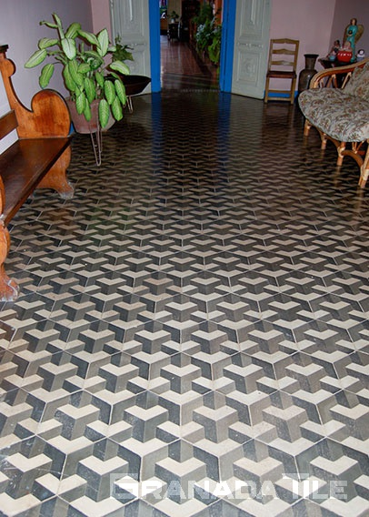 Nicaraguan Style Tiles Nicaraguan Style Cement And Concrete Tiles - 3 dimensional floor tiles