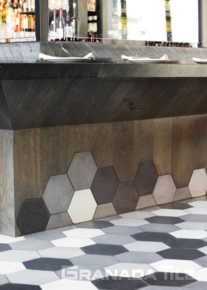 Floor At The Broad Museum S Otium Restaurant Cement Tiles