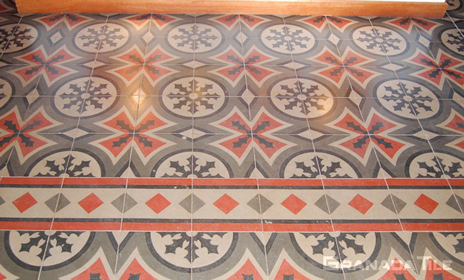 Quirky and dynamic concrete tile pattern